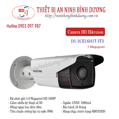 Camera Hikvision 5.0 Megapixel DS-2CE16H1T-IT3