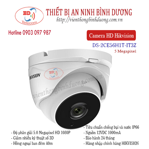 Camera Hikvision 5.0 Megapixel DS-2CE56H1T-IT3Z